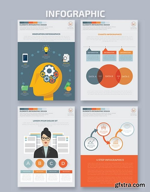 Business Infographics A4 Template Design 2