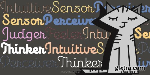 Personalitype Font Family - 5 Fonts