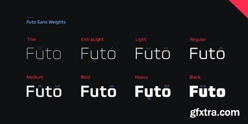 Futo Sans Font Family - 16 Fonts