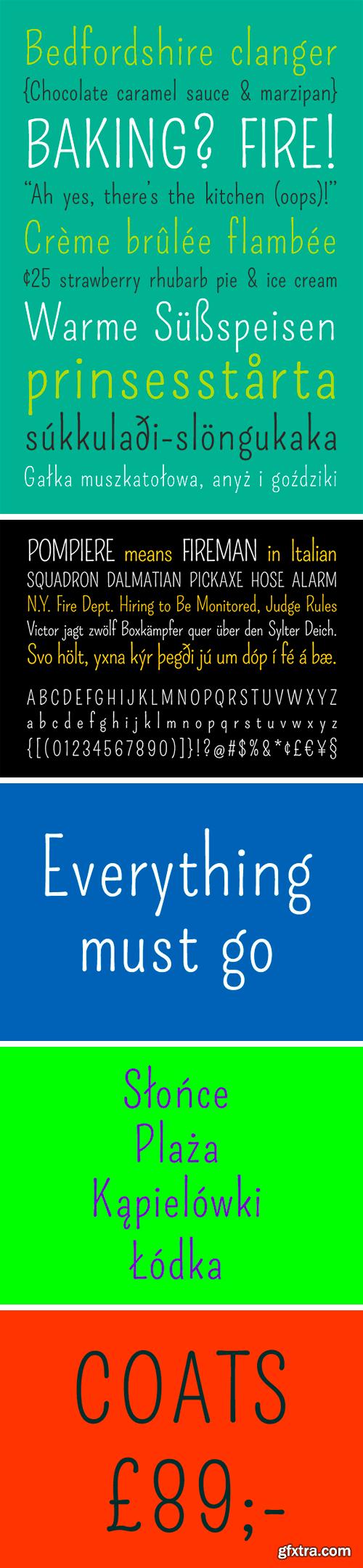 Pompiere Typeface