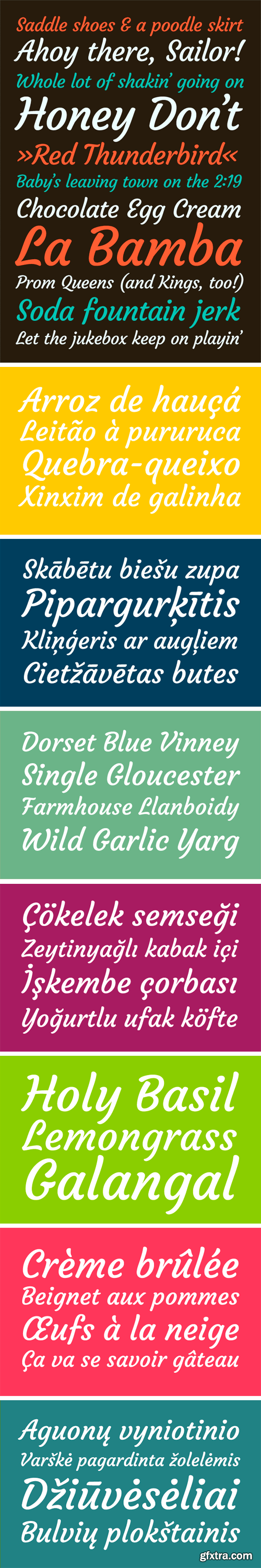 Courgette Typeface