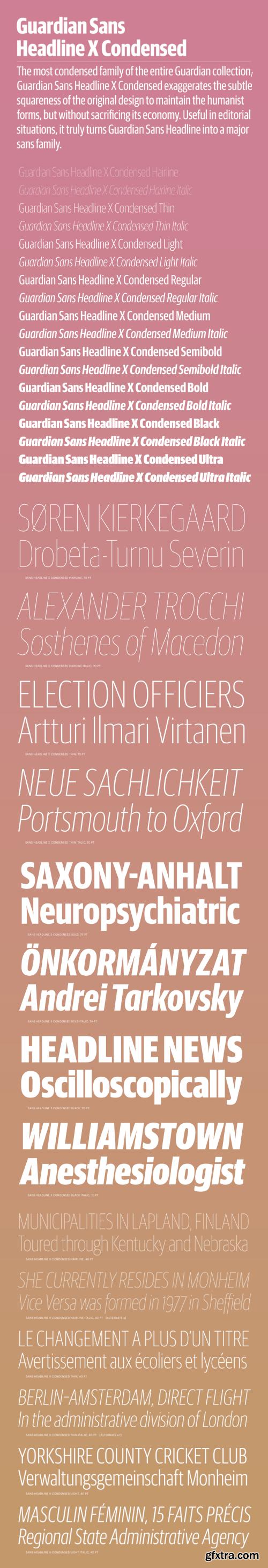 Guardian Sans Headline X Condensed Font Family