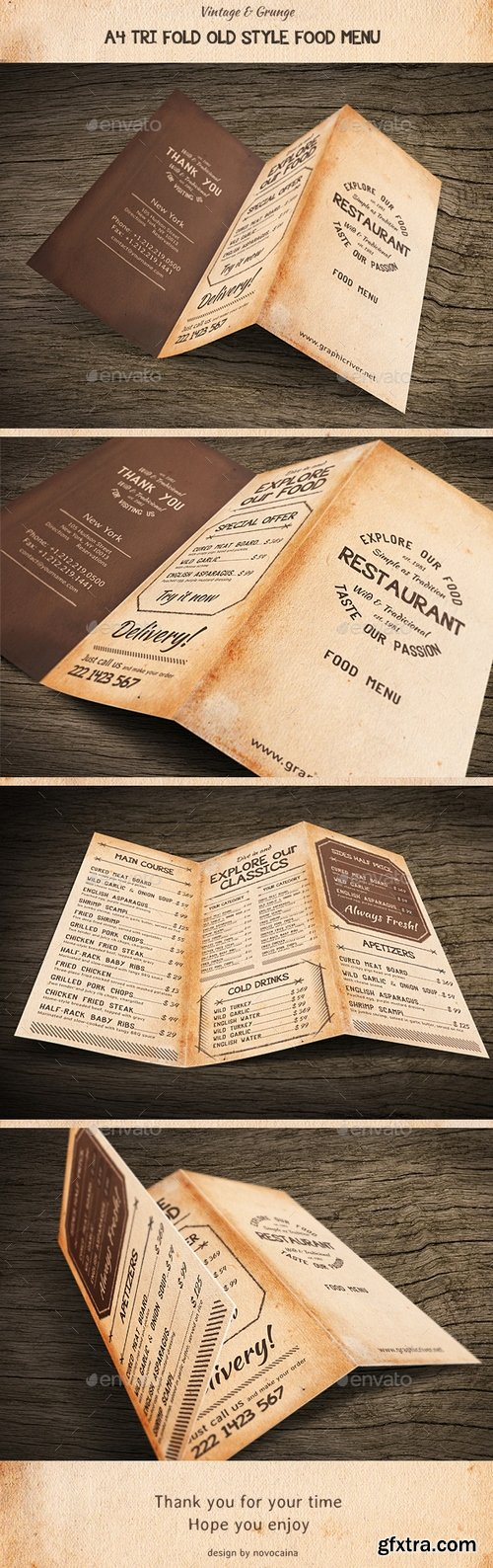 Graphicriver - Old Style A4 Trifold Food Menu 15956927