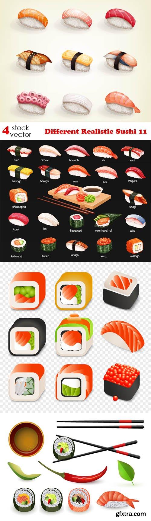 Vectors - Different Realistic Sushi 11