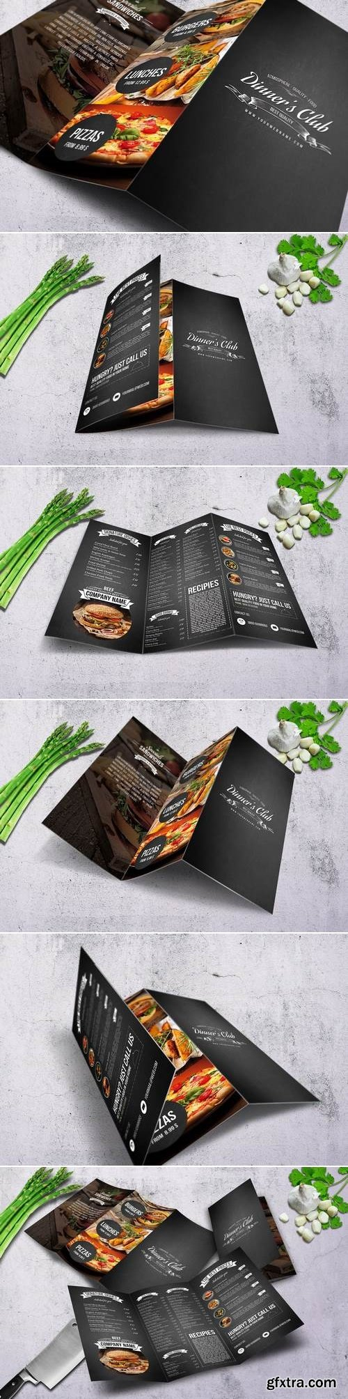 Diner\'s Club A4 Trfiold Menu Design