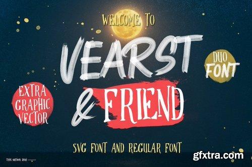 CreativeMarket Vearst & Friend SVG FONT & REGULAR 2889920
