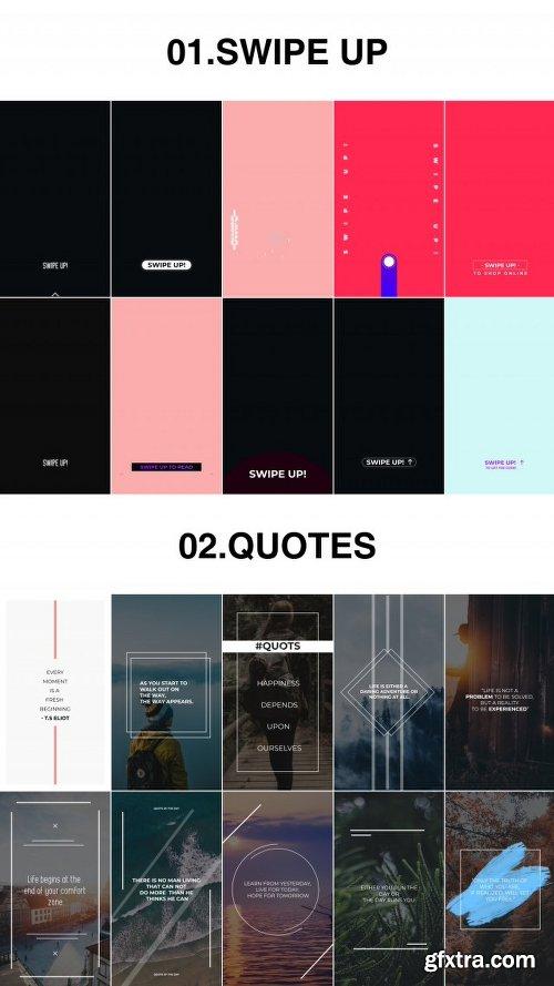 Videohive Minimal Mega Instagram Stories Pack Kit 22393686