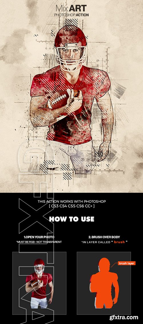 GraphicRiver - MixArt 2 Photoshop Action 22623083