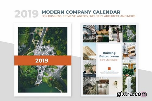 2019 Minimal Calendar For Company, Agency, Busines