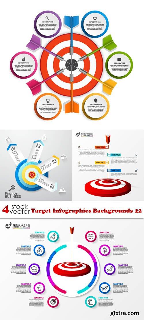 Vectors - Target Infographics Backgrounds 22