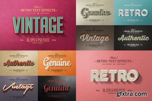 Vintage Text Effects Vol1