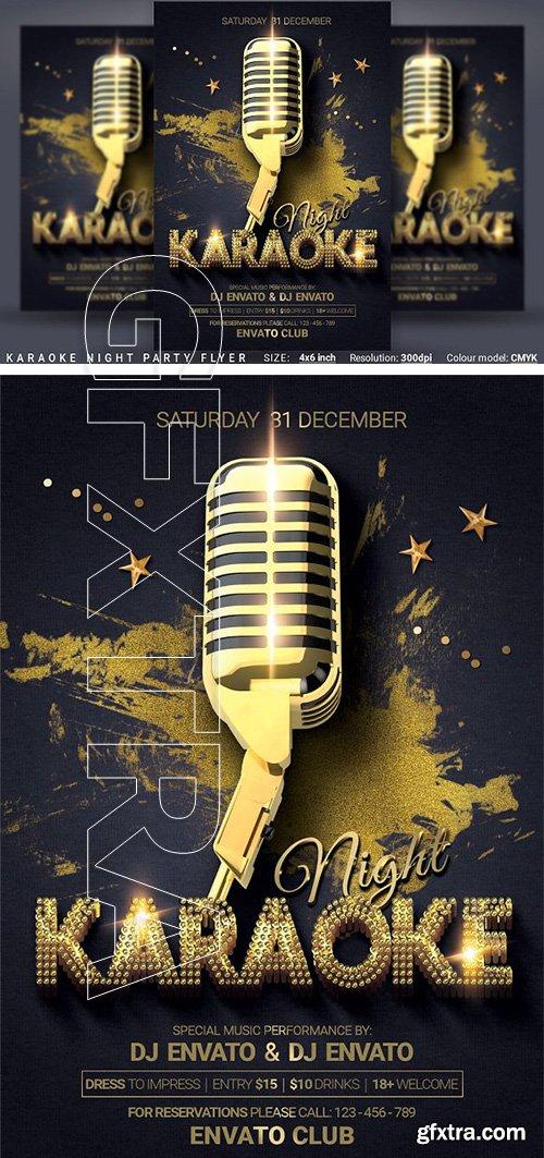 CreativeMarket - Karaoke Night Party Flyer 3034143