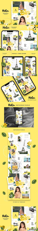CreativeMarket - Instagram Puzzle - Hola 3034307