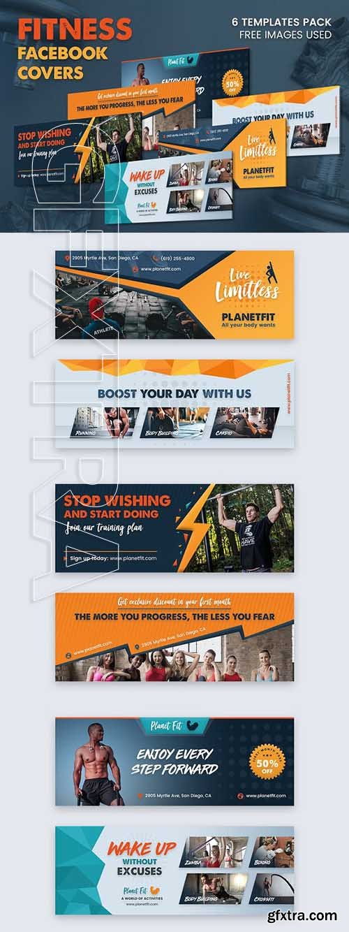 CreativeMarket - Fitness Facebook Cover 3012419