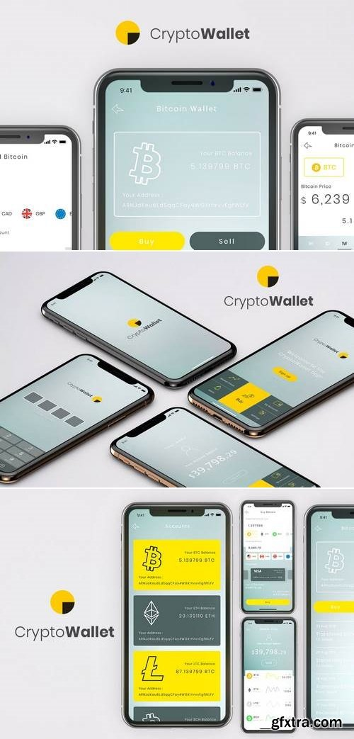 Crypto Wallet Mobile App Ui Kit - B