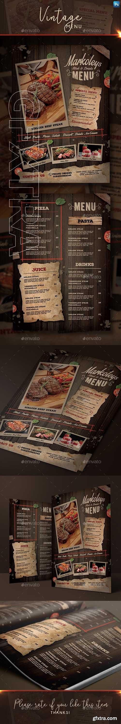 GraphicRiver - Rustic Cafe Menu 22651513