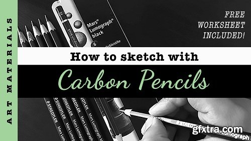 Sketching with Carbon Pencils! Free worksheet included!