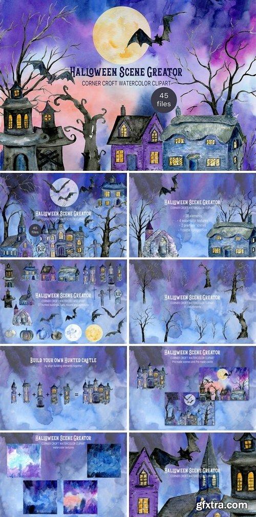 CM - Watercolor Halloween Scene Creator 3034240
