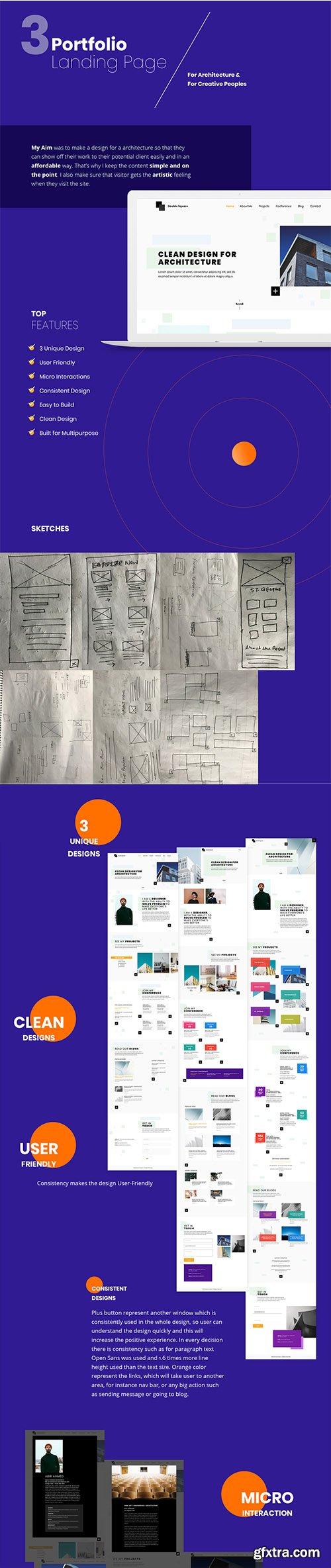 Portfolio Landing Pages