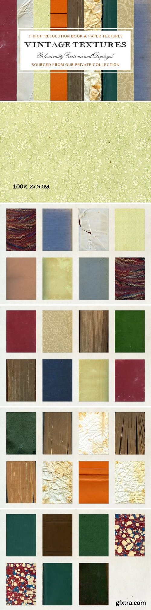CM - 31 Vintage Book & Paper Textures 1874721