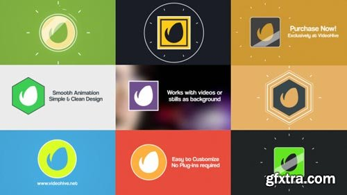 Videohive - Simple Flat Logo Reveal Pack - 12123612