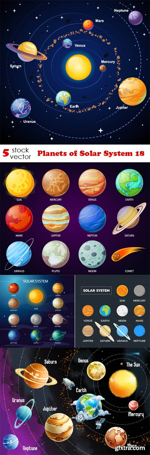 Vectors - Planets of Solar System 18