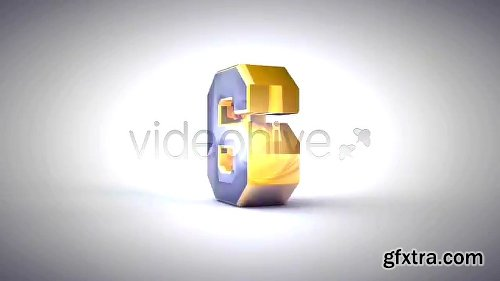 Videohive Stylish 3D Countdown 1686688