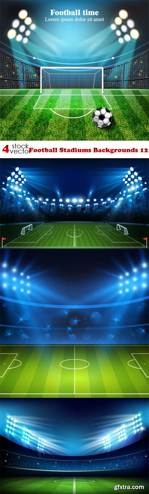 Vectors - Football Stadiums Backgrounds 12