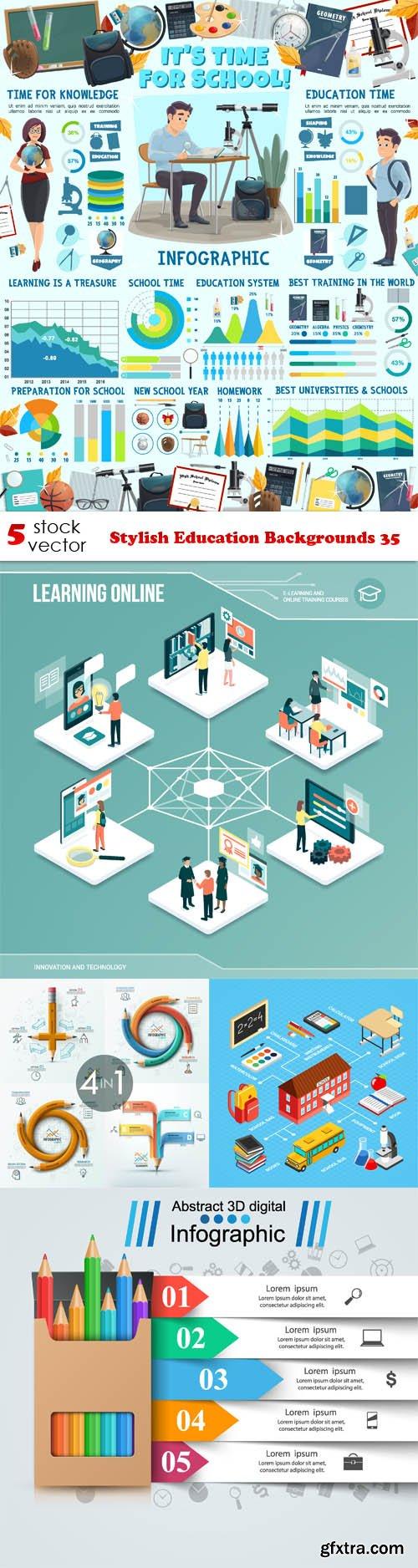 Vectors - Stylish Education Backgrounds 35