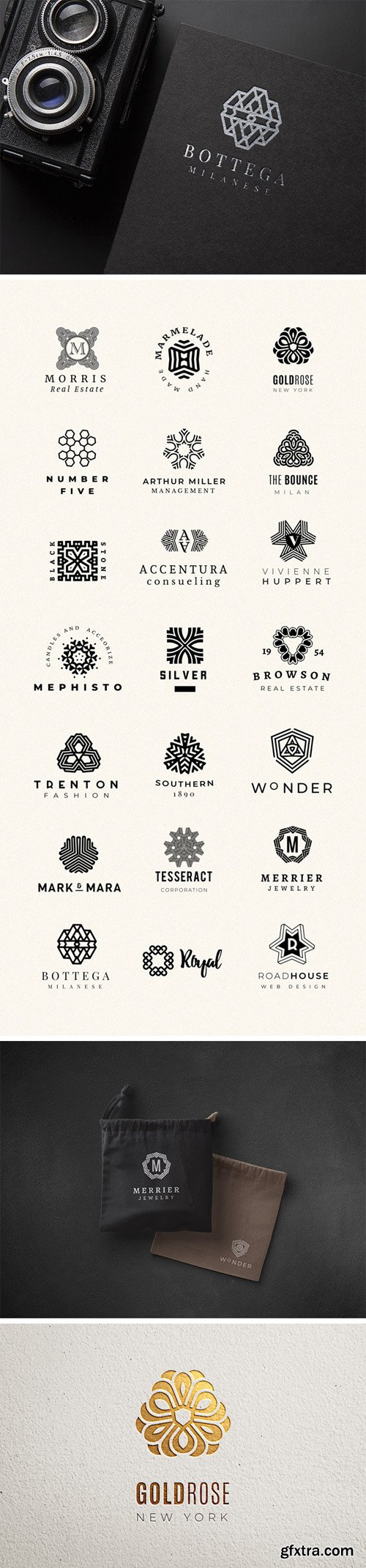 25 Modern Mandala Logo Creator [Ai/EPS/PSD]