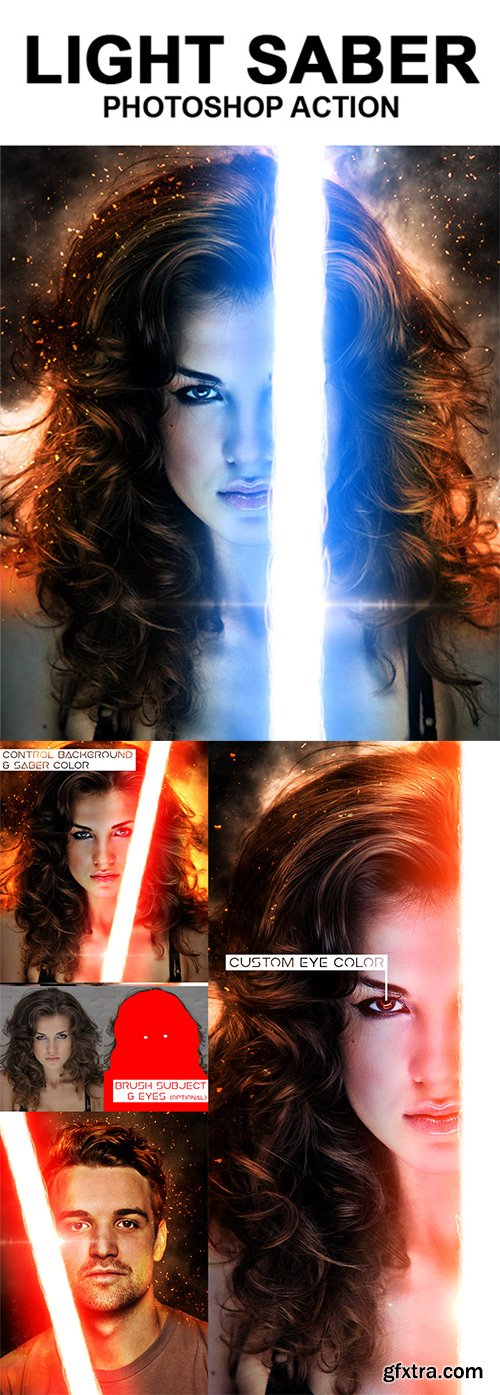 Graphicriver - Light Saber Photoshop Action 18542969