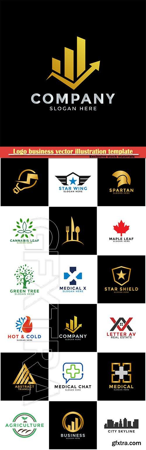 Logo business vector illustration template # 152