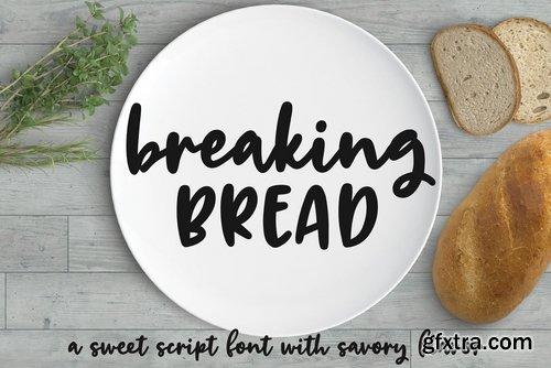 CM - Breaking Bread a chunky script font 2333106