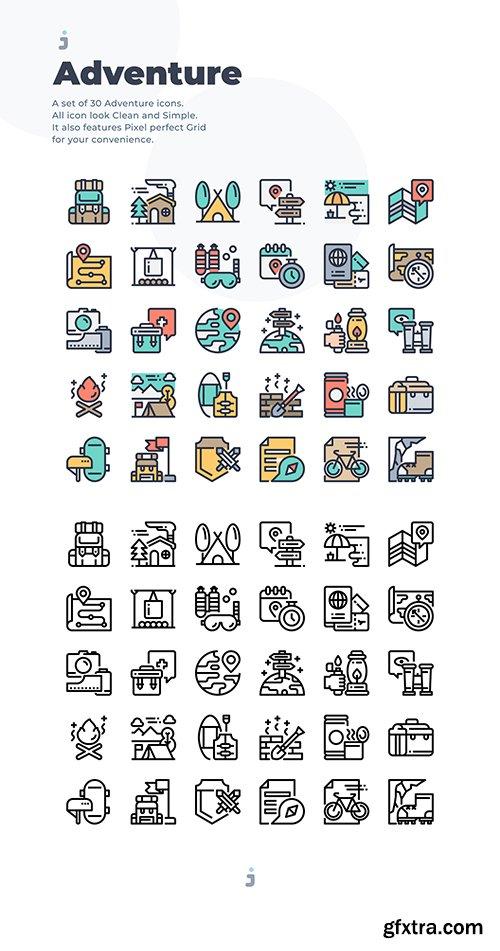 30 Adventure Icons