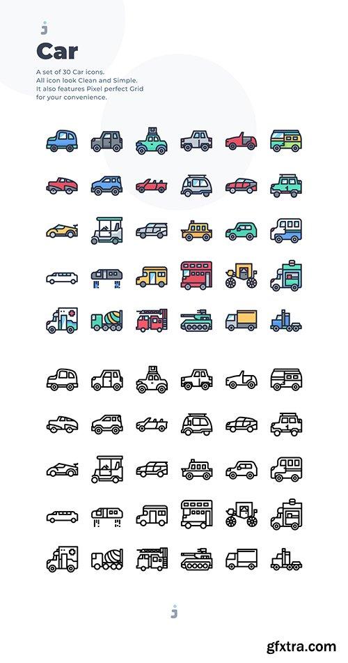 30 Car Icons