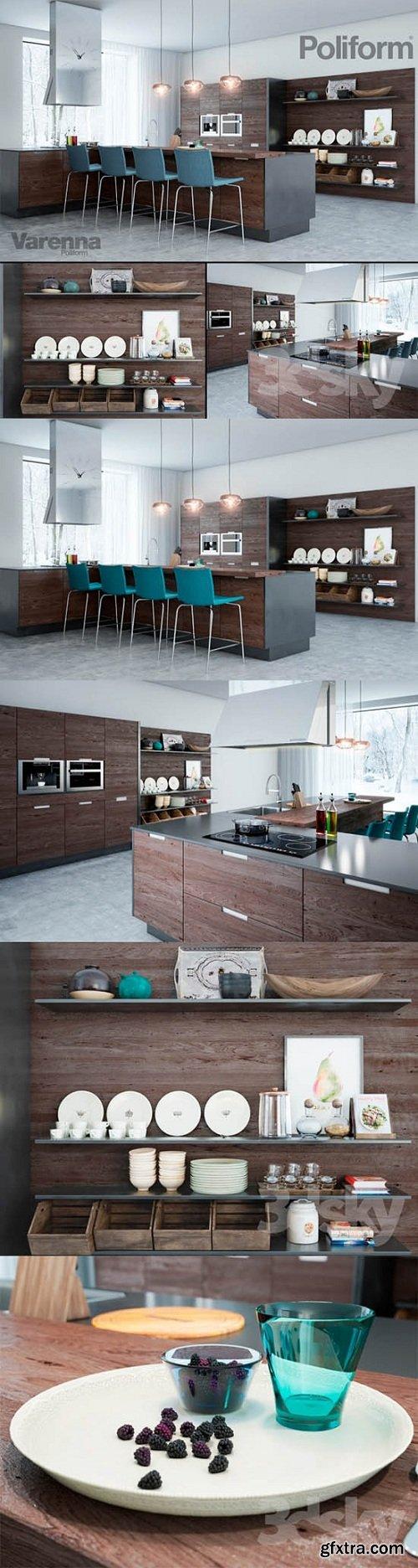 Poliform Varenna Kitchen 3d Model