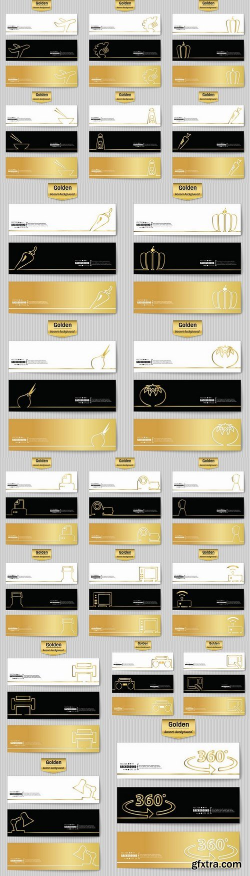 Banner pattern wallpaper background is a business card flyer gold geometric figure 21 EPS