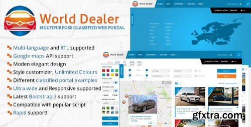 ThemeForest - Car Dealer Classified Directory Template - 19804551