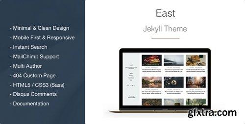 ThemeForest - East 1.1.6 - Minimal and Clean Jekyll Blog Theme - 16252756