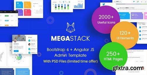 ThemeForest - MegaStack v1.0 - Bootstrap 4 & Angular JS Admin Dashboard Template and UI Framework - 22714569