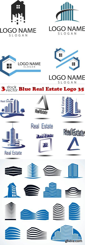 Vectors - Blue Real Estate Logo 35