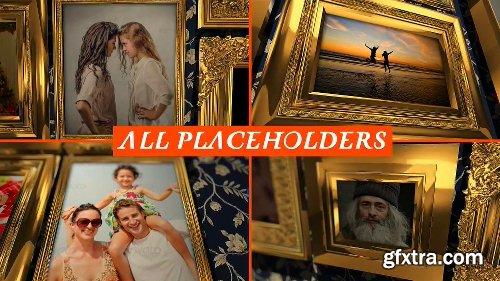 Videohive Golden Frames Photo Gallery Kit 18819937