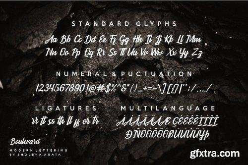 CreativeMarket Boulevard - Modern Lettering 3038623