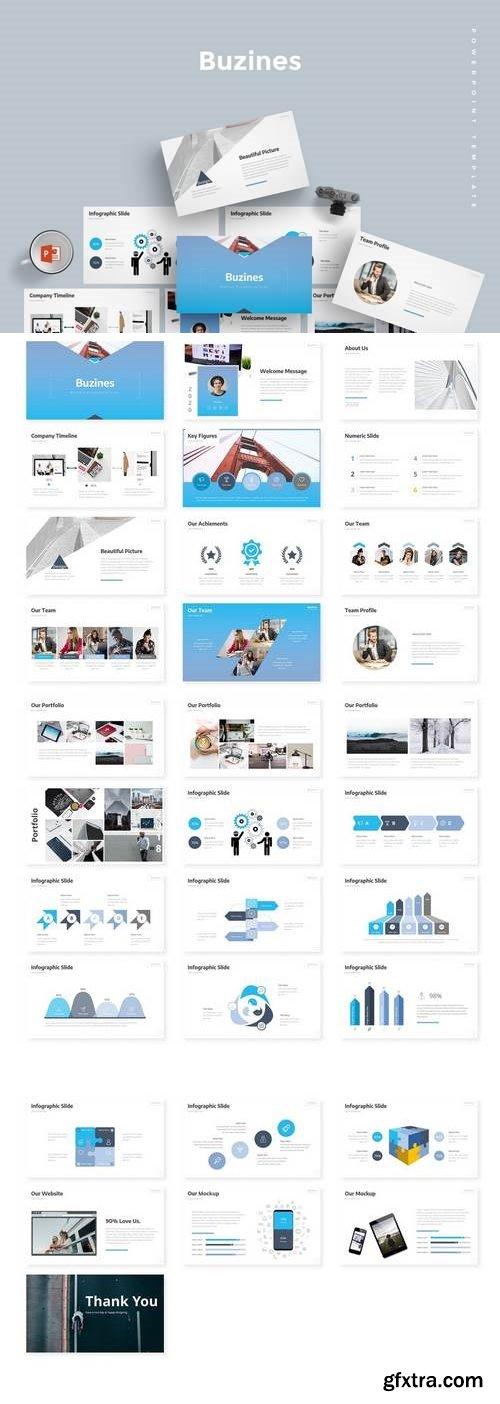 Buzines  - Powerpoint, Keynote, Google Sliders Templates