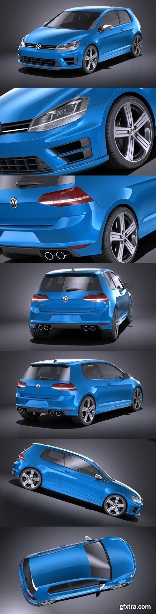 Volkswagen Golf R 2014 3D Model