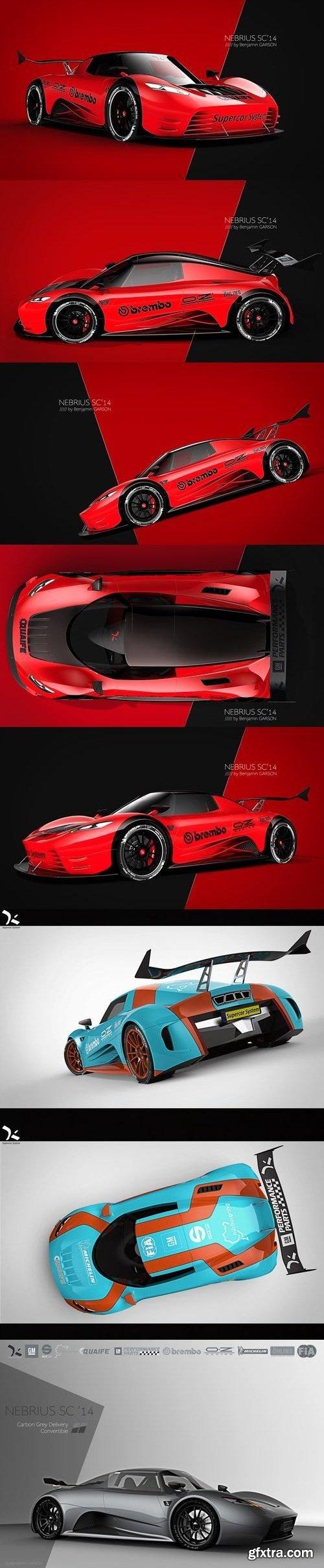 Nerbius 500G Supercar 3D Model