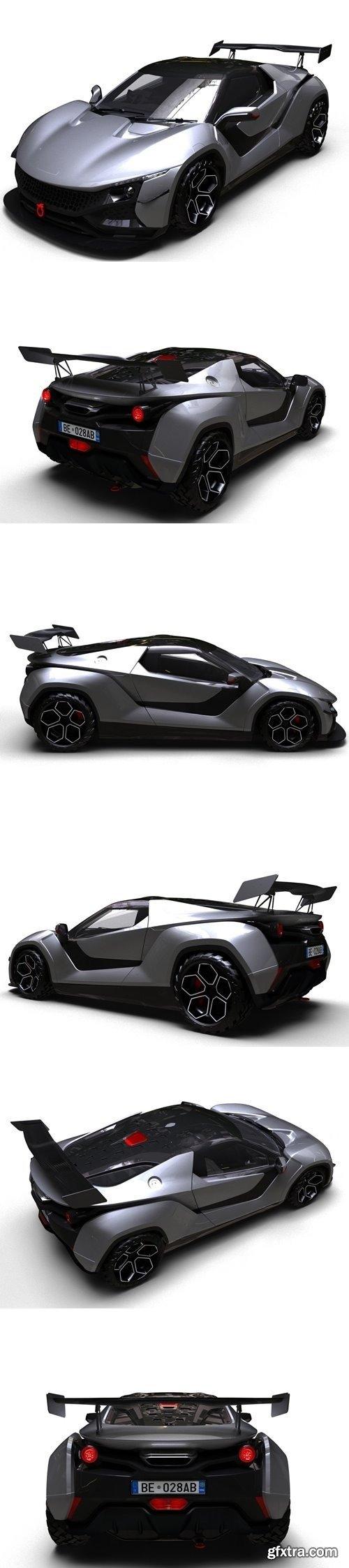TAMO RACEMO Sport Car 3D Model