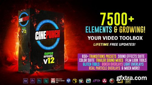 Videohive CINEPUNCH - 7500+ Elements and Growing! V12 20601772