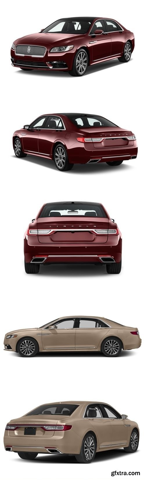 Lincoln Continental 2017 3D Model