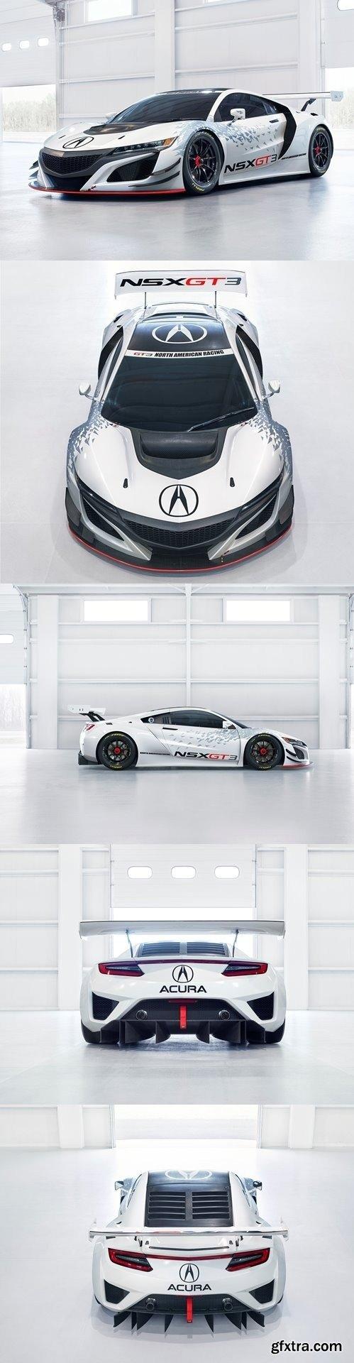 Acura NSX GT3 Race Car 2019 3D Model